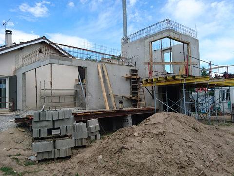 Agrandissement-villa-Boisset-St-Priest-phase-chantier