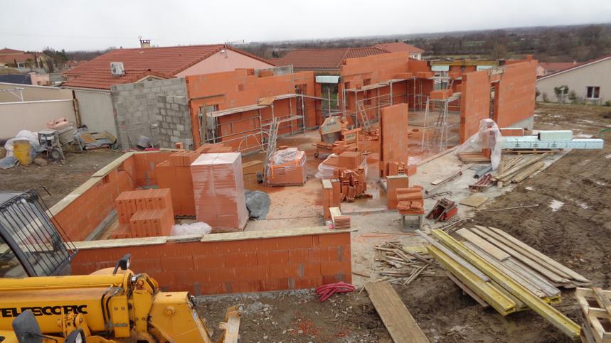Construction d'une villa en BIO BRIC 4G à St-Romain-le-Puy