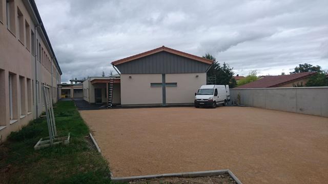 Extension du lycee St-Claire à Sury-le-Comtal vue extérieur batiment