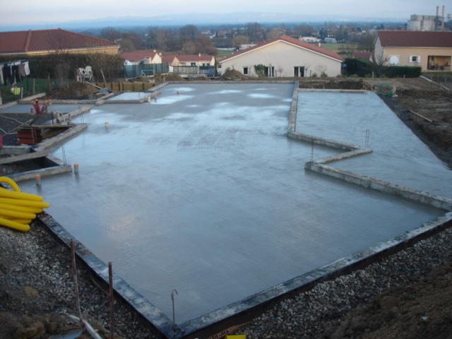 Fondations Dallage et Terrasse pour pavillon